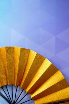 Gold folding fan