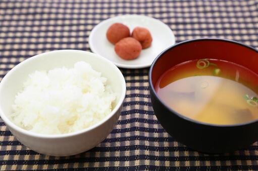 Table cloth of Japanese set menu check 4