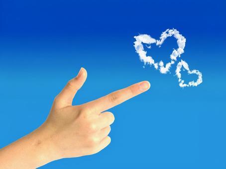 Heart and pistol hands