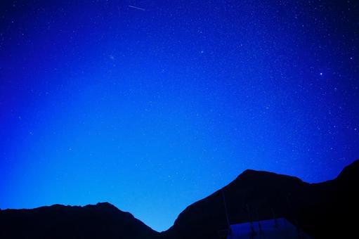 北阿爾卑斯的星空(日出前)