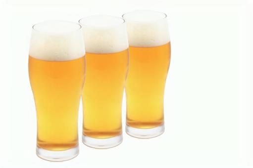 Glass beer 3 beer glasses with PSD