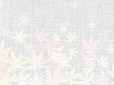 White cloth with red leaves background 160902