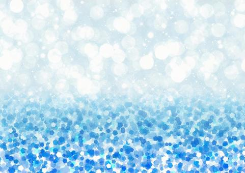 Fluffy and glitter bokeh and glitter style illustration background material (blue)