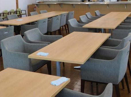 Empty dining room seats