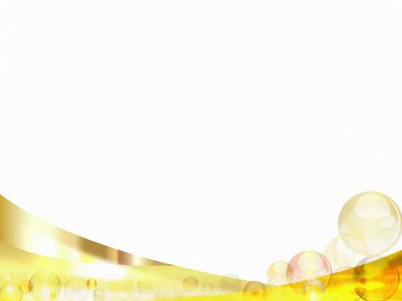 Gold Gradient Glossy Wave Background
