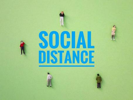 Social distance Physical distance
