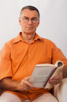 Male reading 2