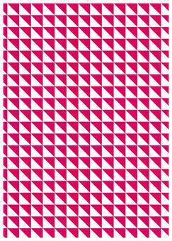 Texture of geometric pattern small triangular red