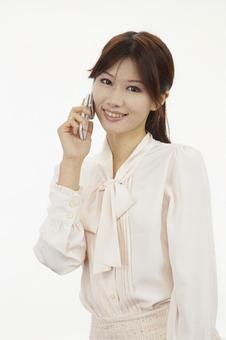Female with mobile phone 8