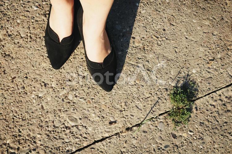 女性の足とハイヒール つま先1の写真