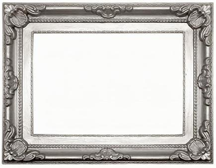 Antique style silver frame (with cutout pass)