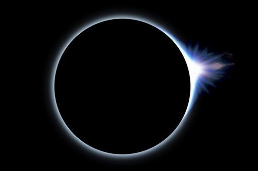 Diamond ring total solar eclipse