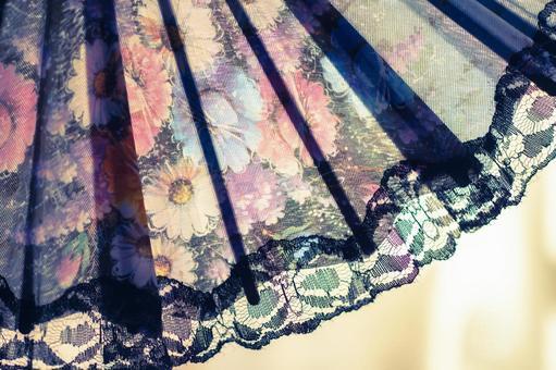 Gorgeous folding fan 2