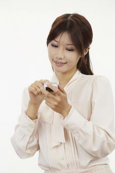 Female with mobile phone 17