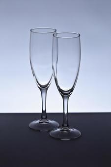 香槟单色玻璃照片