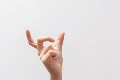2到拇指和食指之间加宽