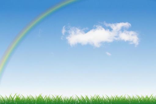 푸른 하늘과 초원 그리고 무지개 08