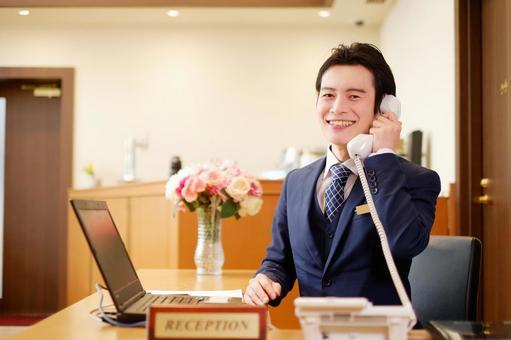 Hotel man receiving a call 6