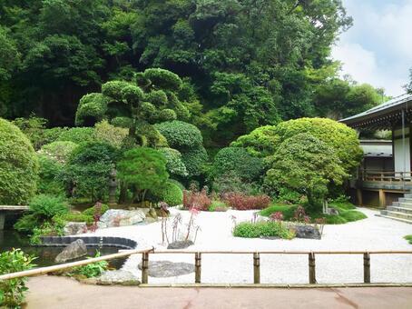 鎌倉北國寺的死水日本花園