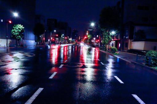 Rainy night highway