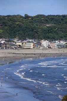 고도 가마쿠라의 材木座 해안 초여름