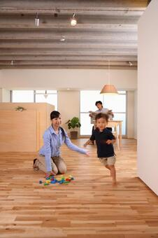 Child running in the room 9