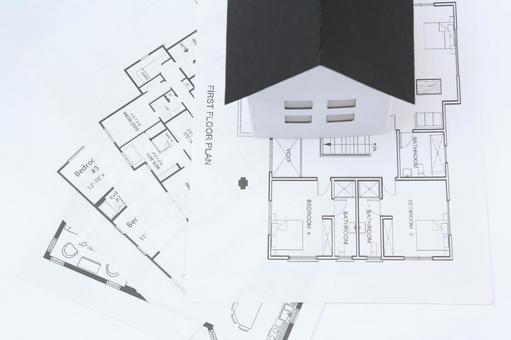 집의 모형 그림자 150