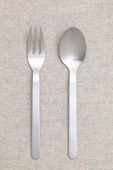 spoon, fork