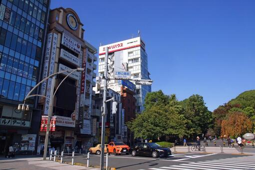Ueno Onshi Park Intersection in front of Ueno Park