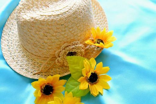 Straw hat summer image
