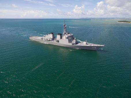 Maritime Self Defense Force Aegis escort ship Aerial shooting