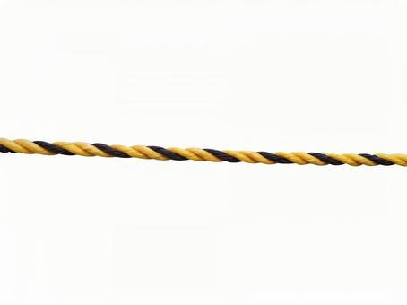 Yellow and black rope (trarope)