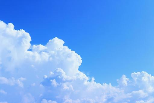 하늘 하늘 여름 하늘 적란운 뭉게 구름 뭉게 뭉게