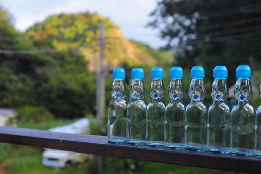 Empty ramune bottle