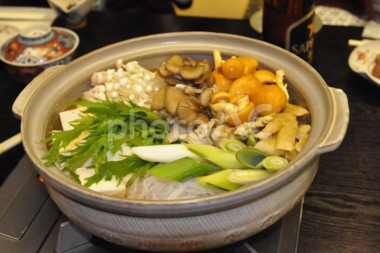 キノコ鍋の写真