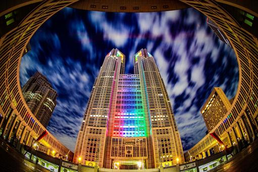 Tokyo Metropolitan Government Office (Olympic · Paralympic Color Light Up) 11
