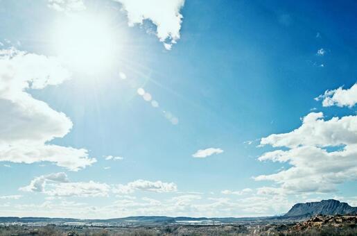 西班牙大地球和太陽