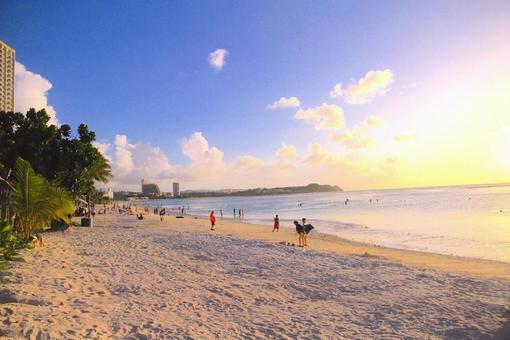 괌의 바다