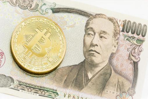 bitcoin and 10,000 yen bill