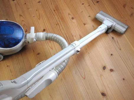图像用吸尘器清洁地板