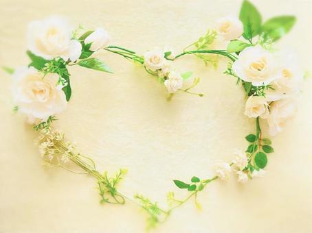 Heart flower frame