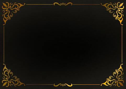 Gold black antique frame
