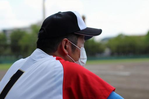 Male person baseball sports corona bruise