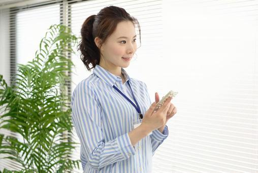 Career woman using a smartphone 2