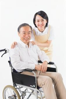 Men with wheelchairs and caregivers 12