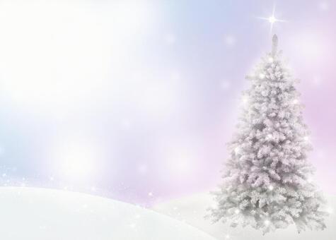 树和雪场面