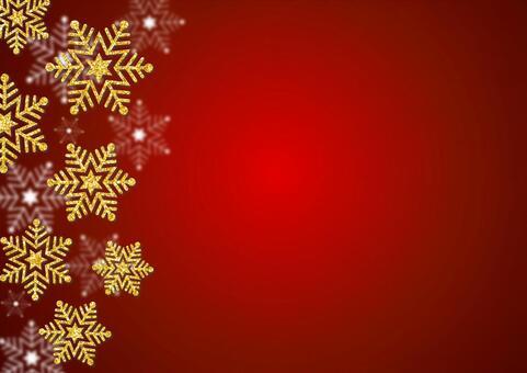 Golden glitter snowflake (red)