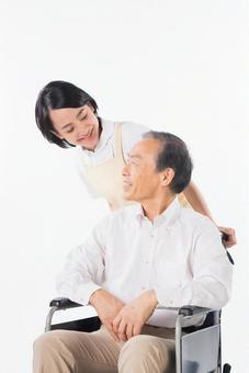 Men and nurses on a wheelchair 18