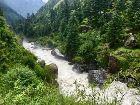 인도의 산속