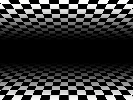 Checkered background material with depth